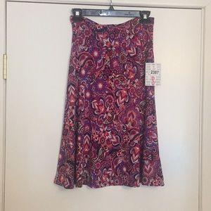 S LuLaRoe Azure Skirt H04 1311